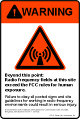 WARNING RF sign