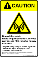 CAUTION RF sign