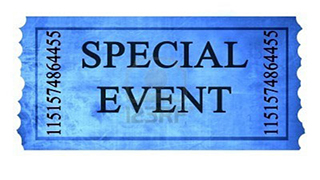 blue special event ticket stub